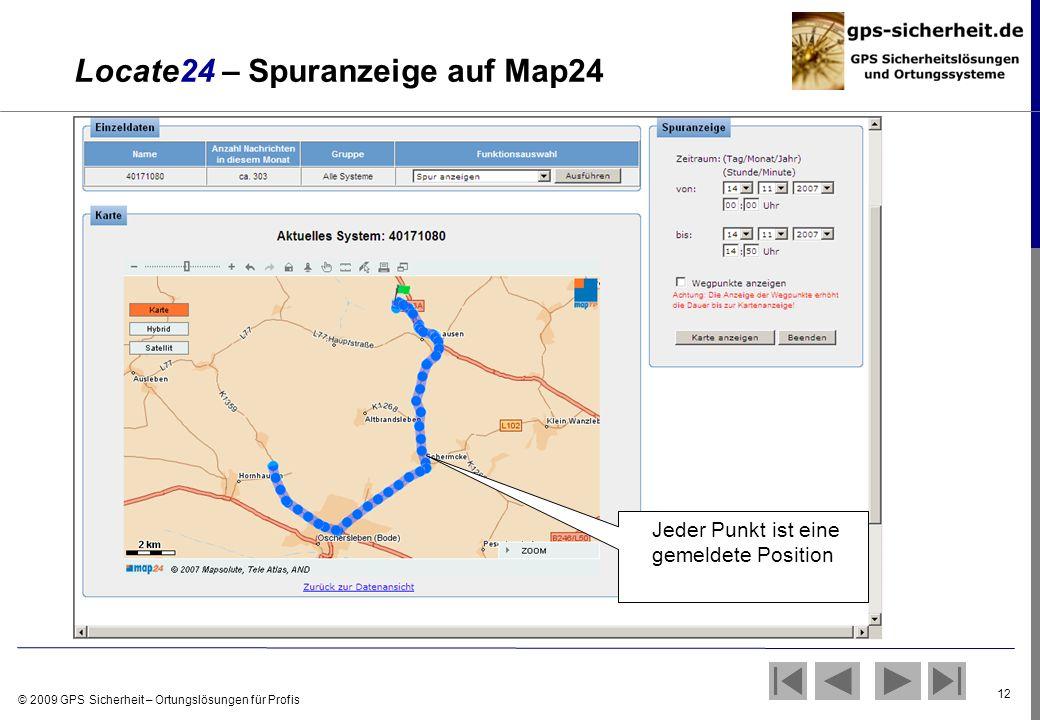 Locate24 – Spuranzeige auf Map24