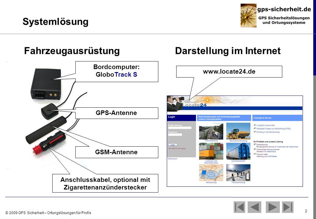 Fahrzeugausrüstung Darstellung im Internet