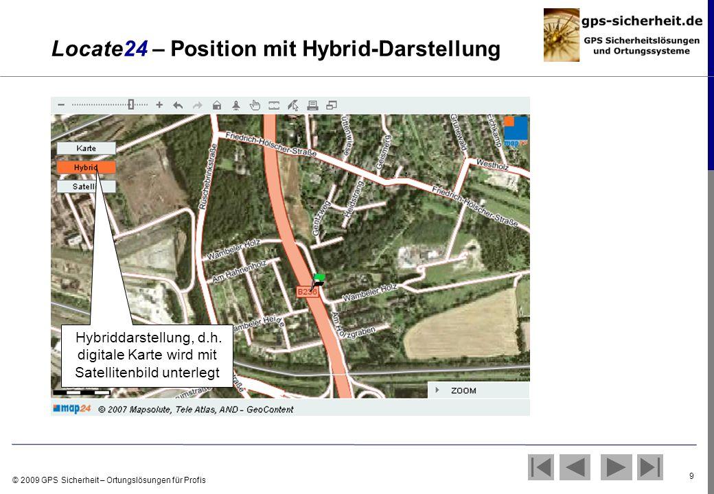 Locate24 – Position mit Hybrid-Darstellung
