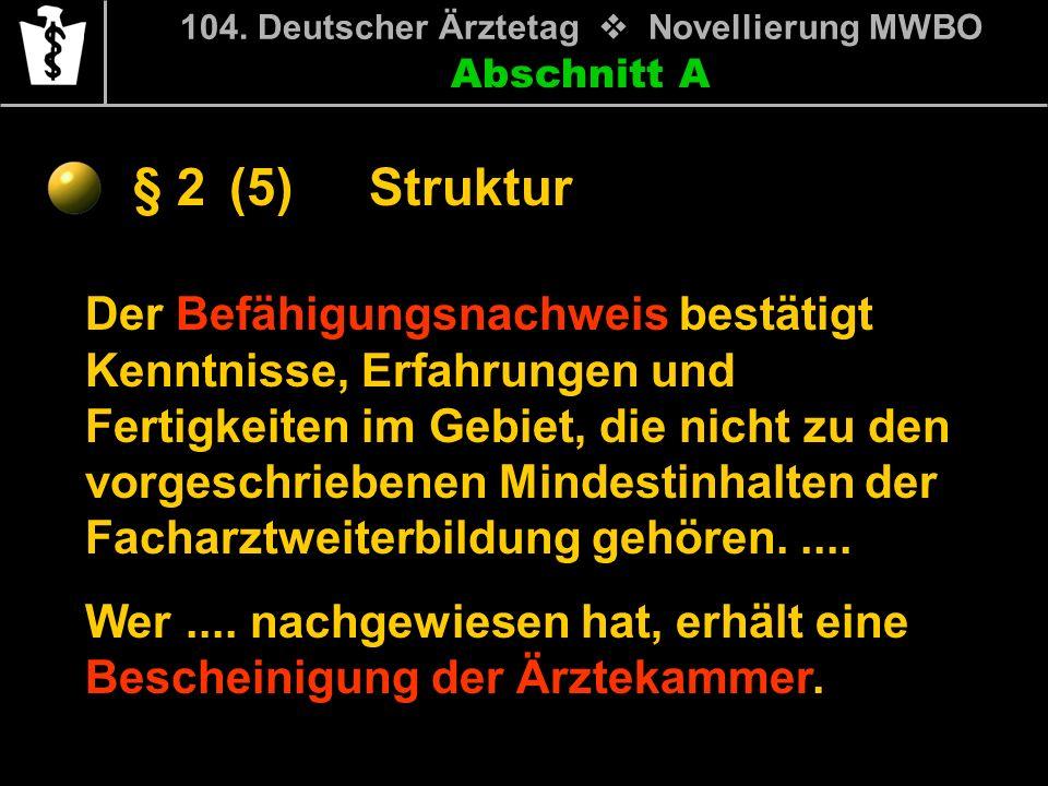 104. Deutscher Ärztetag v Novellierung MWBO