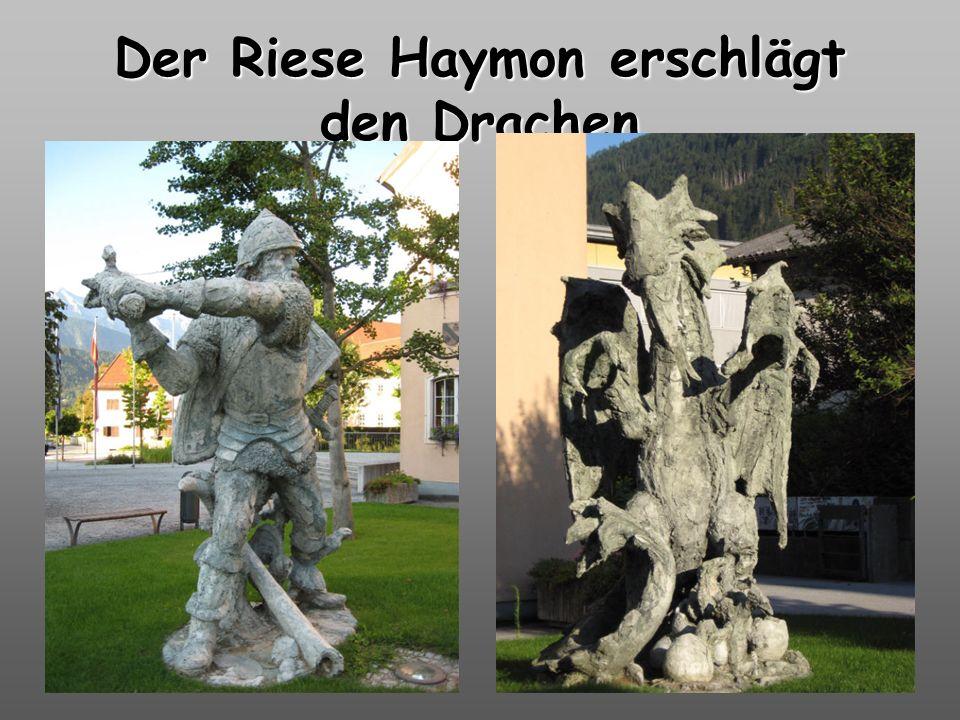 Der Riese Haymon erschlägt den Drachen
