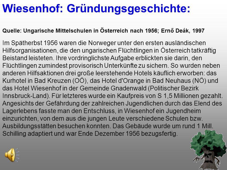 Wiesenhof: Gründungsgeschichte: