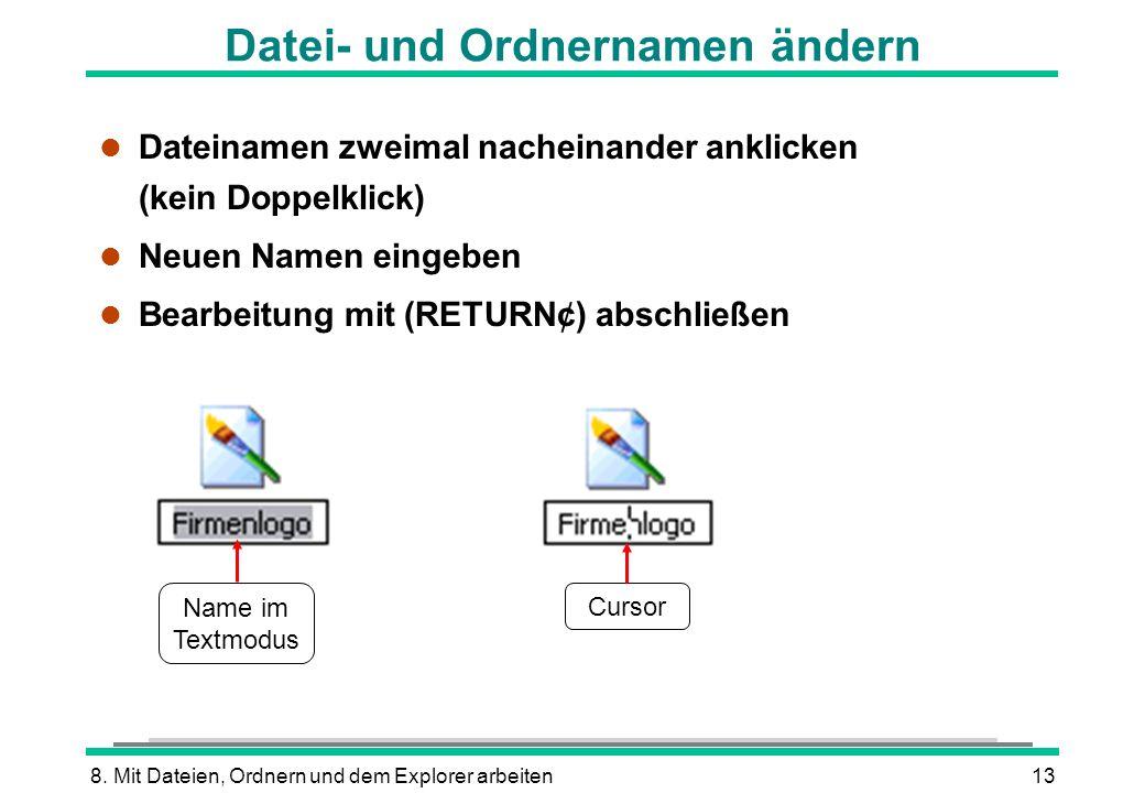 Datei- und Ordnernamen ändern