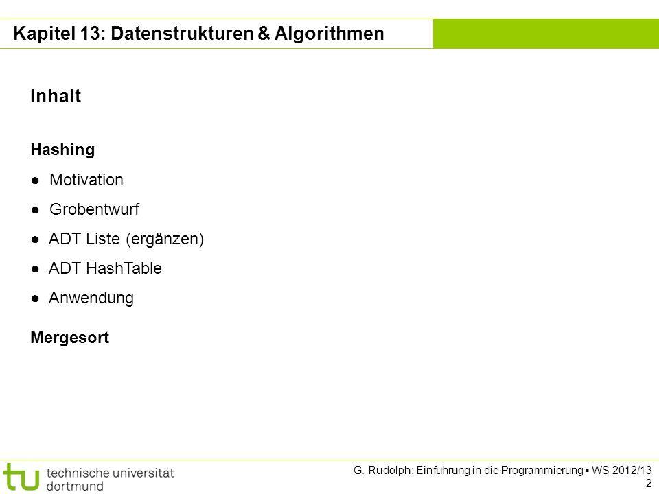 Kapitel 13: Datenstrukturen & Algorithmen