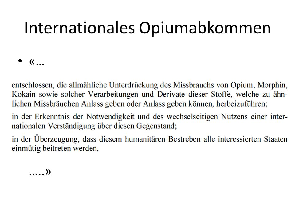 Internationales Opiumabkommen