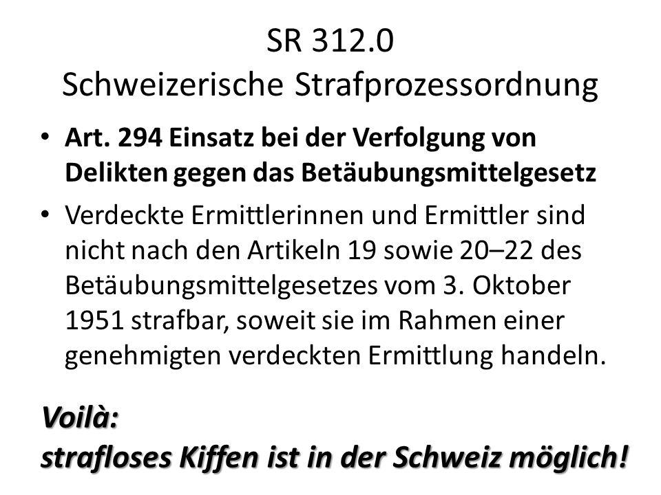 SR 312.0 Schweizerische Strafprozessordnung
