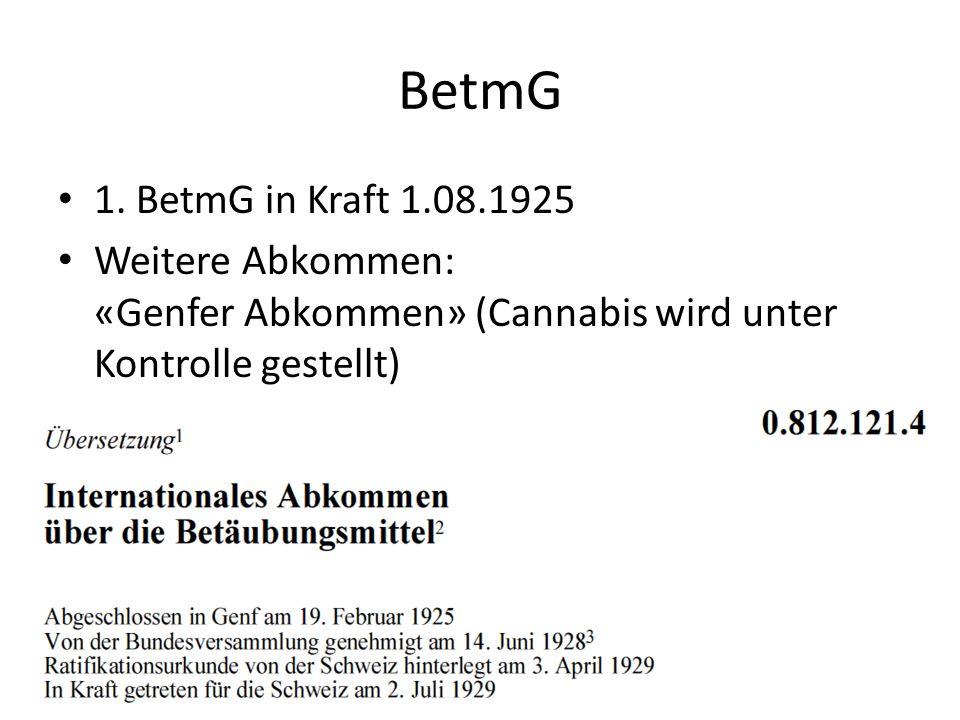 BetmG 1. BetmG in Kraft 1.08.1925.