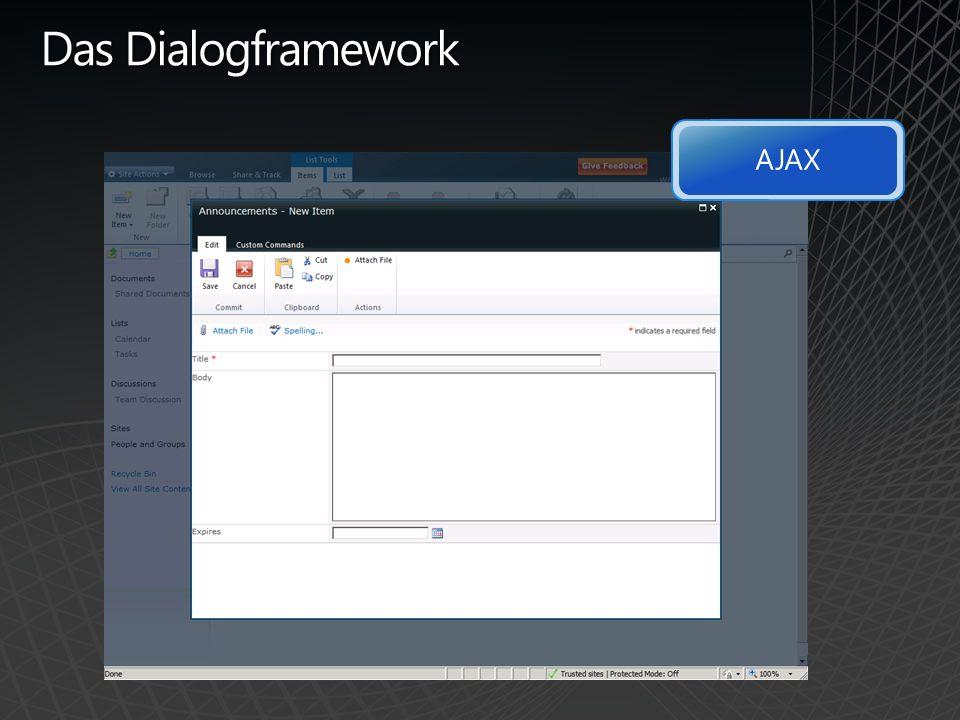 Das Dialogframework AJAX
