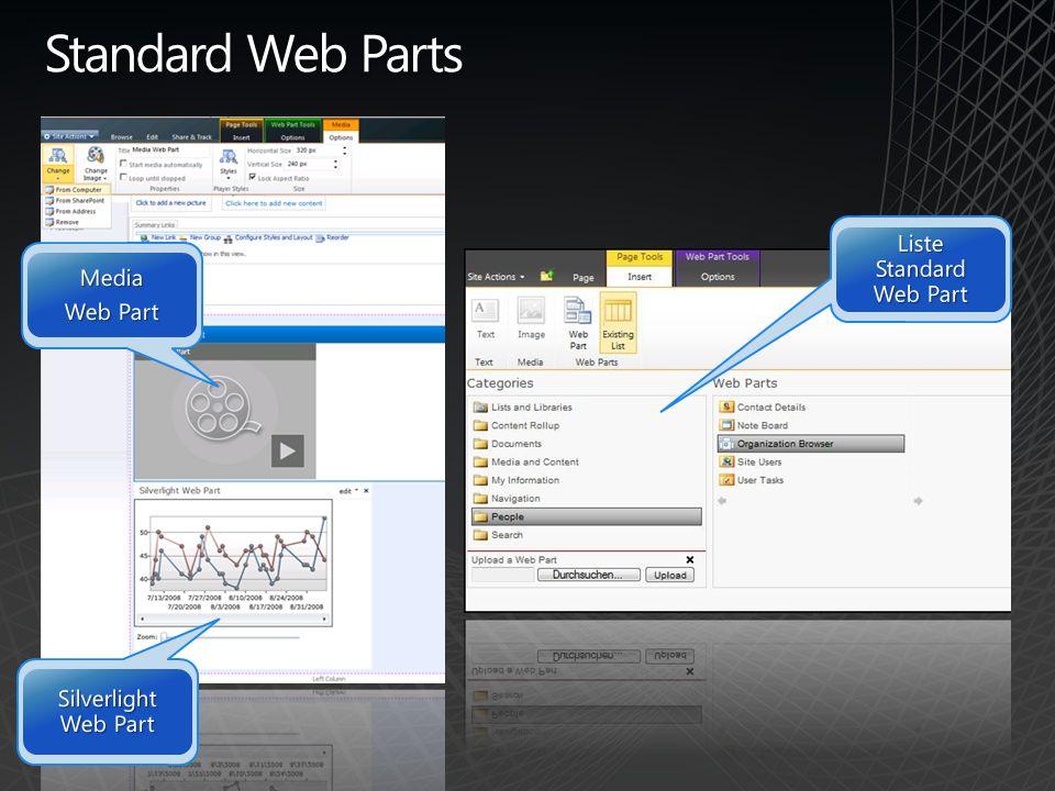 Liste Standard Web Part