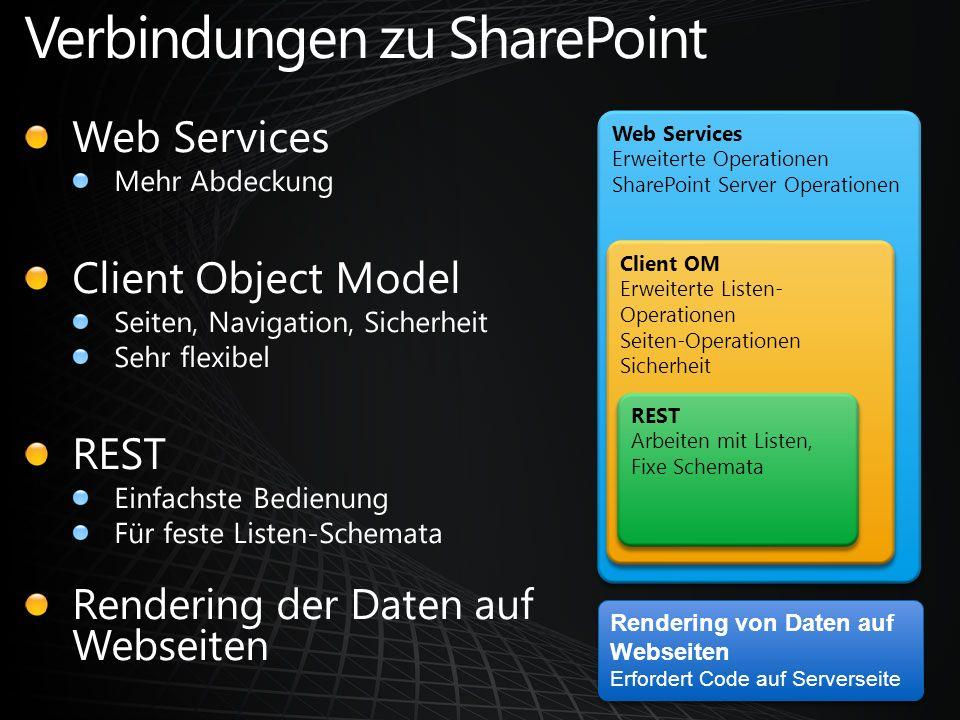 Verbindungen zu SharePoint