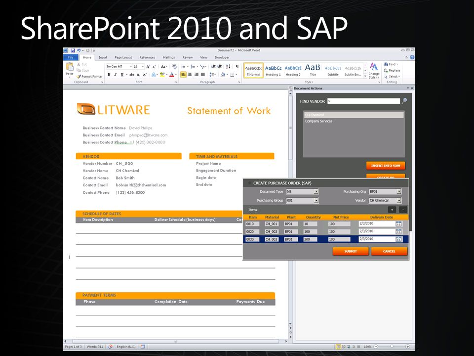SharePoint 2010 and SAP