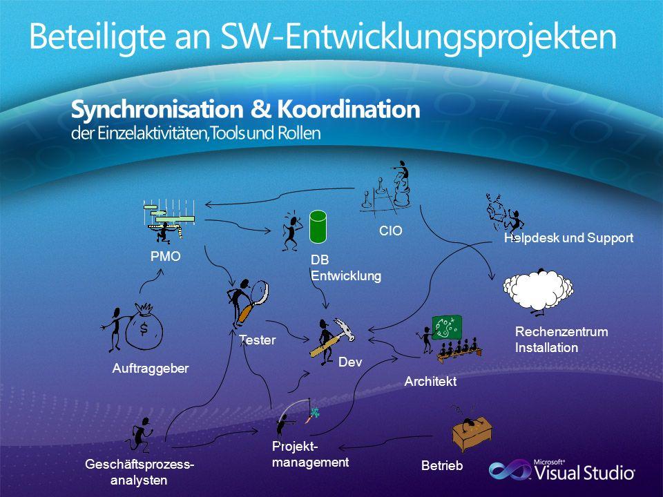 Beteiligte an SW-Entwicklungsprojekten