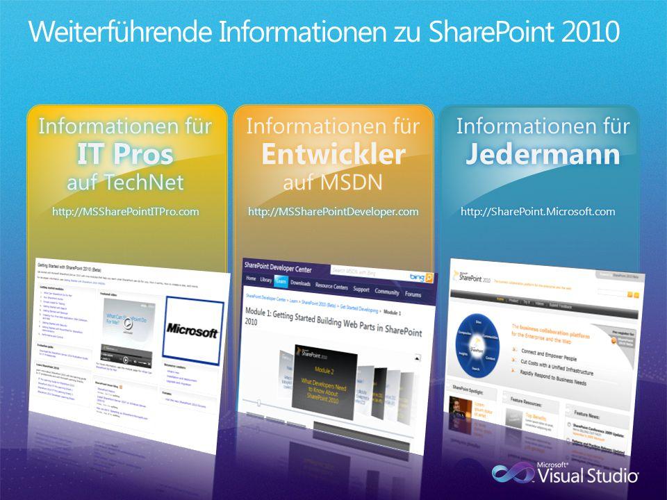 Weiterführende Informationen zu SharePoint 2010