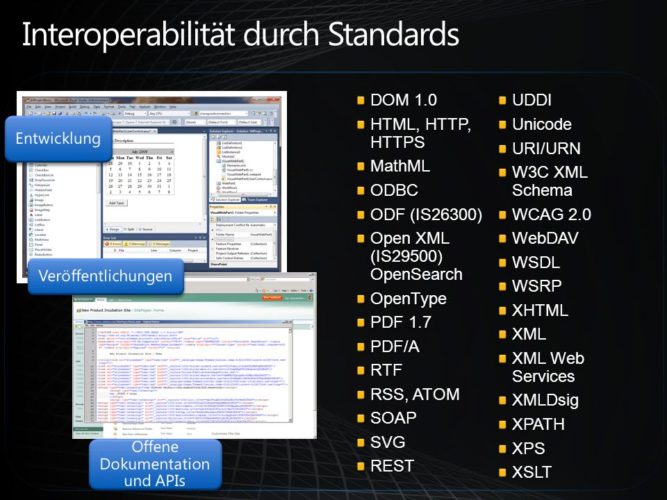 Interoperabilität durch Standards