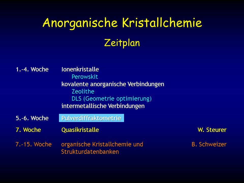 Anorganische Kristallchemie
