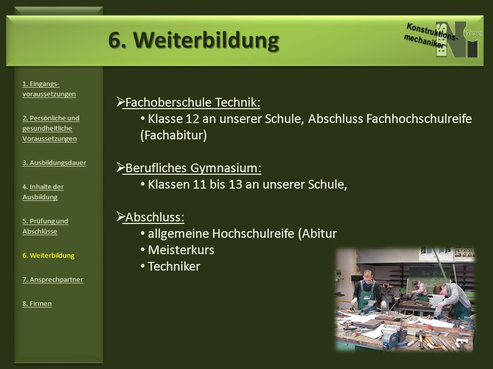 6. Weiterbildung Fachoberschule Technik: