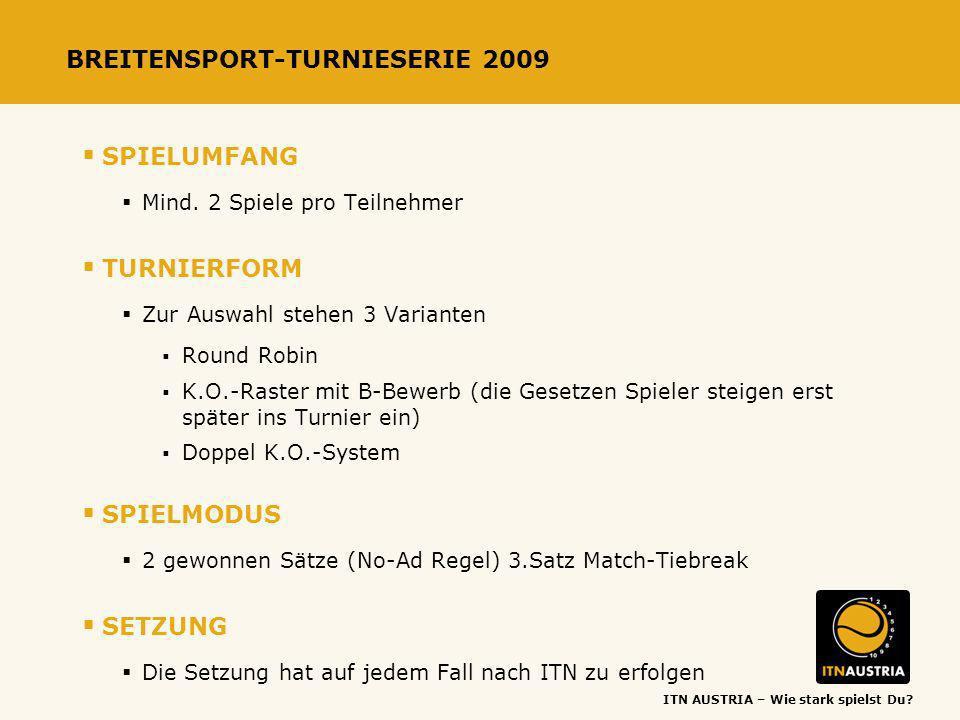 BREITENSPORT-TURNIESERIE 2009