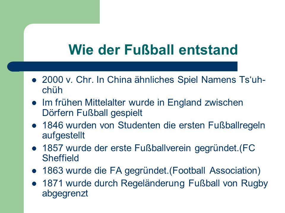 Wie der Fußball entstand