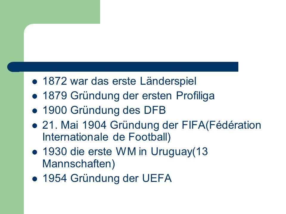 1872 war das erste Länderspiel