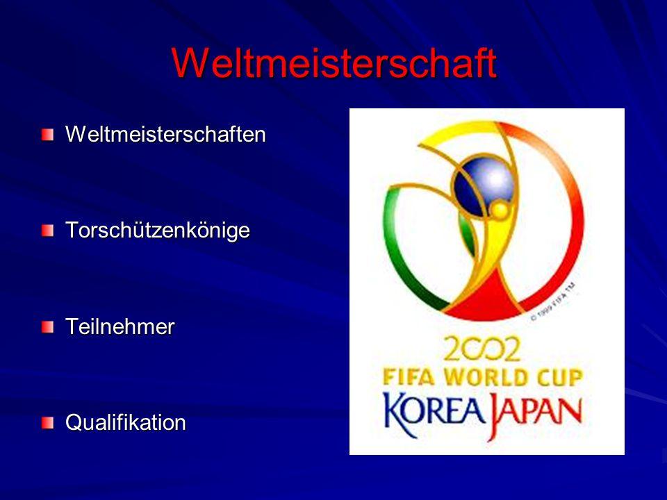 Weltmeisterschaft Weltmeisterschaften Torschützenkönige Teilnehmer
