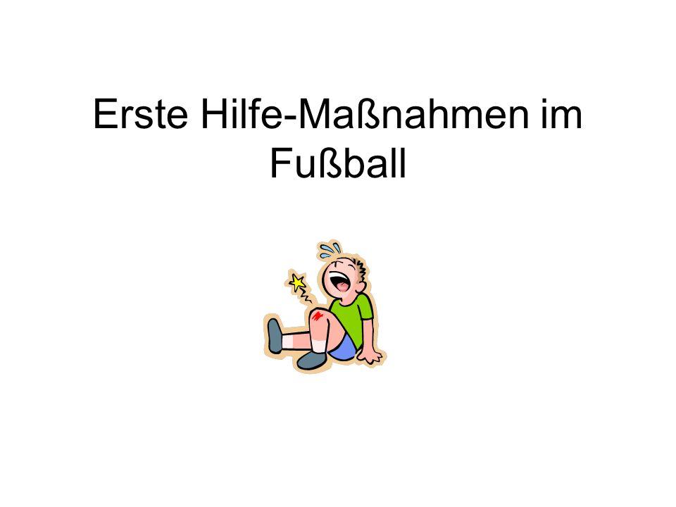 Erste Hilfe-Maßnahmen im Fußball
