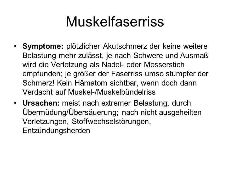 Muskelfaserriss