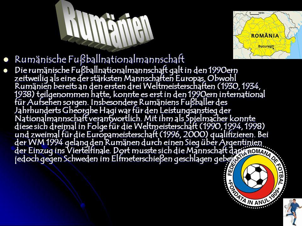 Rumänien Rumänische Fußballnationalmannschaft