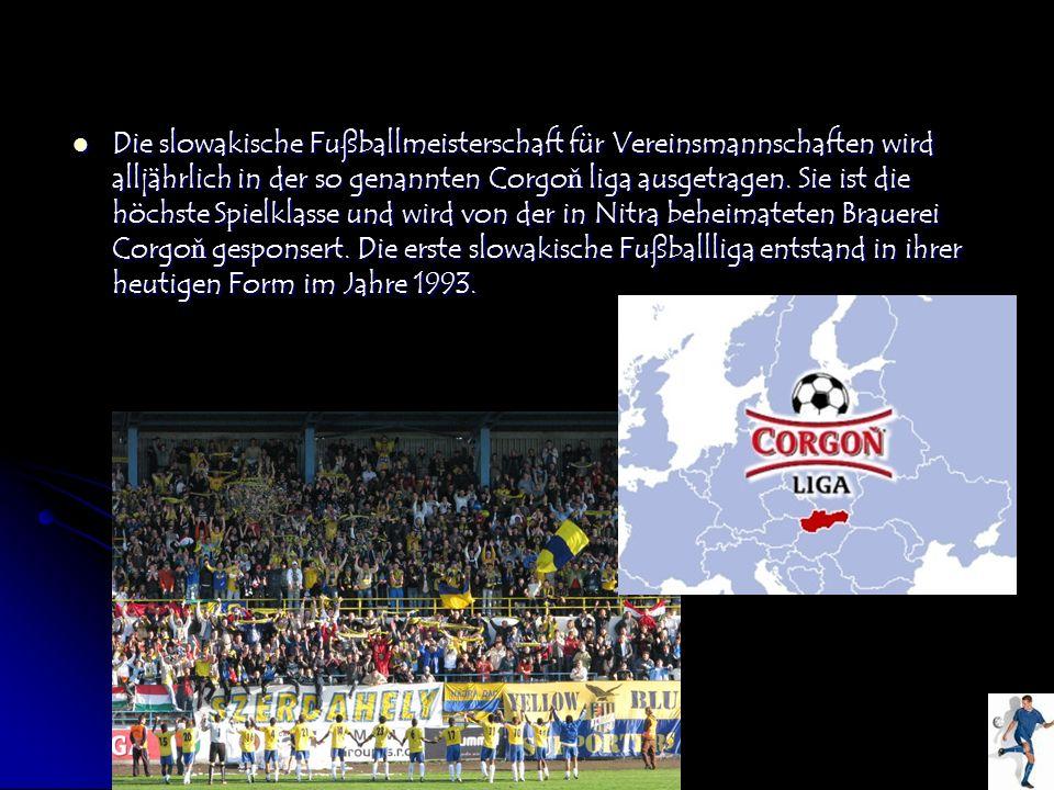 Die slowakische Fußballmeisterschaft für Vereinsmannschaften wird alljährlich in der so genannten Corgoň liga ausgetragen.