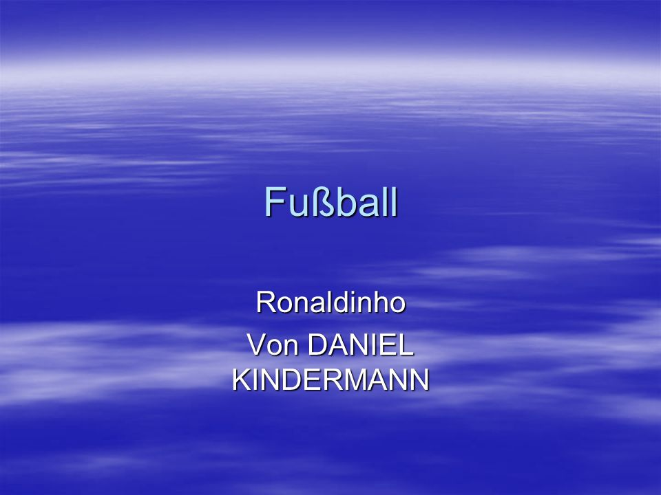 Ronaldinho Von DANIEL KINDERMANN