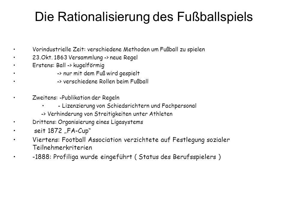Die Rationalisierung des Fußballspiels