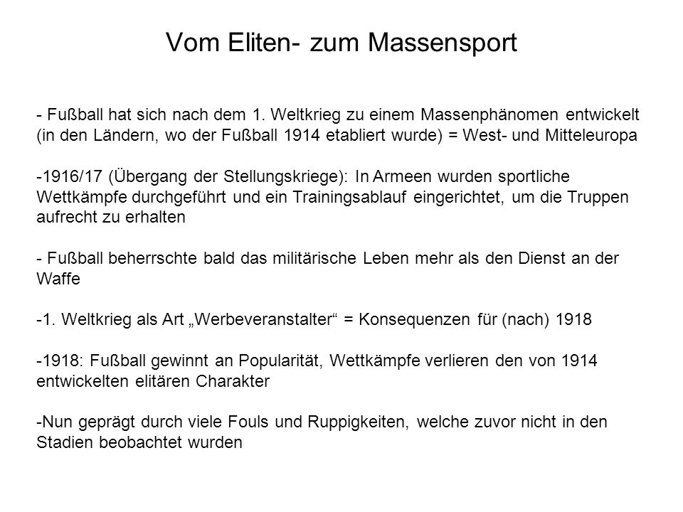 Vom Eliten- zum Massensport