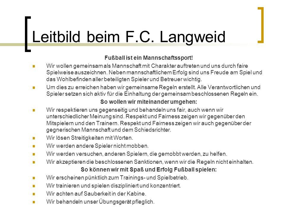 Leitbild beim F.C. Langweid