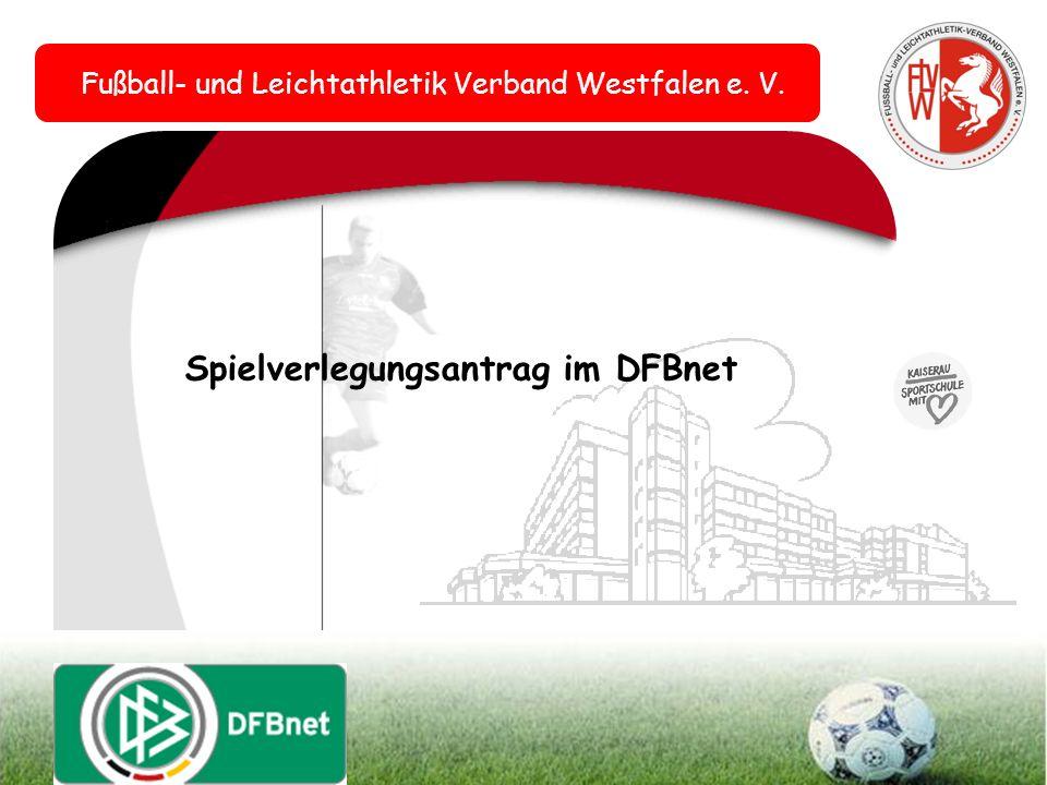 Spielverlegungsantrag im DFBnet