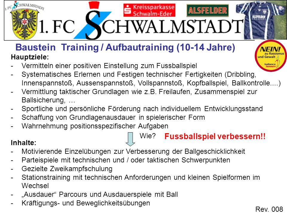 Baustein Training / Aufbautraining (10-14 Jahre)