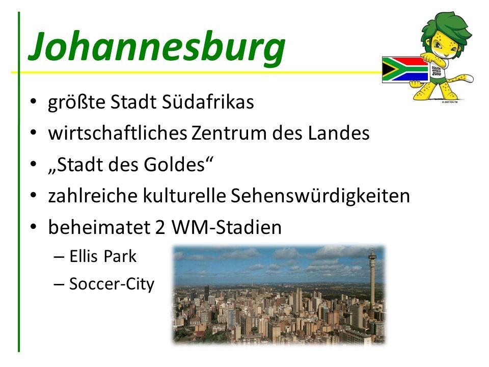 Johannesburg größte Stadt Südafrikas