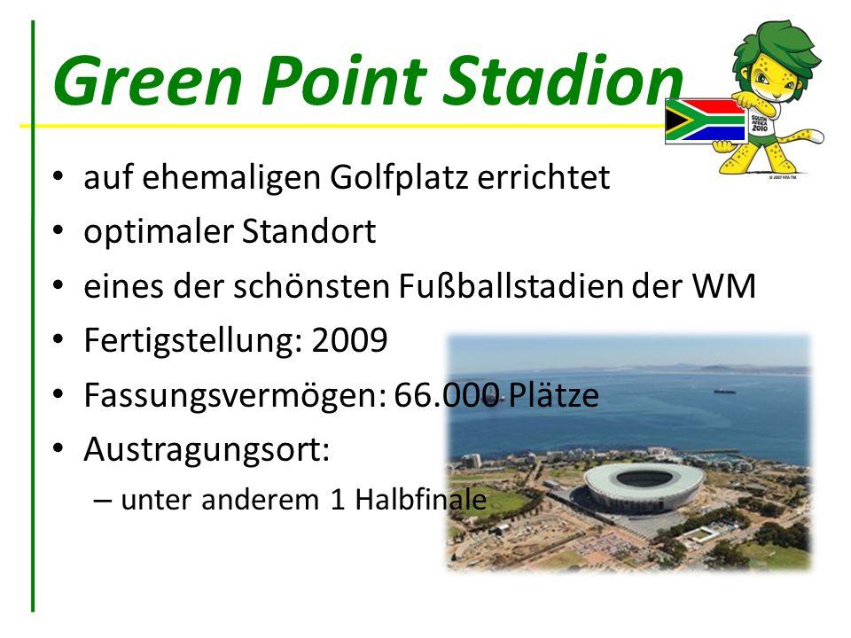 Green Point Stadion auf ehemaligen Golfplatz errichtet