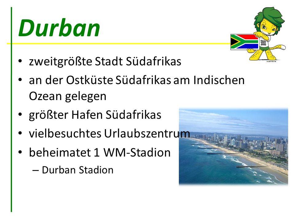 Durban zweitgrößte Stadt Südafrikas
