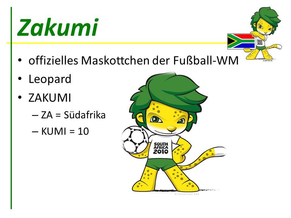 Zakumi offizielles Maskottchen der Fußball-WM Leopard ZAKUMI