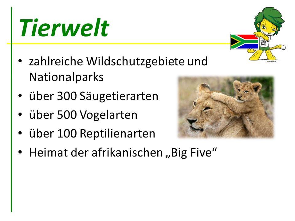 Tierwelt zahlreiche Wildschutzgebiete und Nationalparks