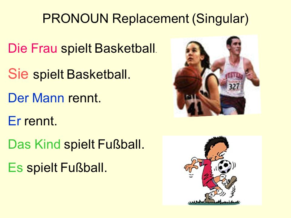 PRONOUN Replacement (Singular)