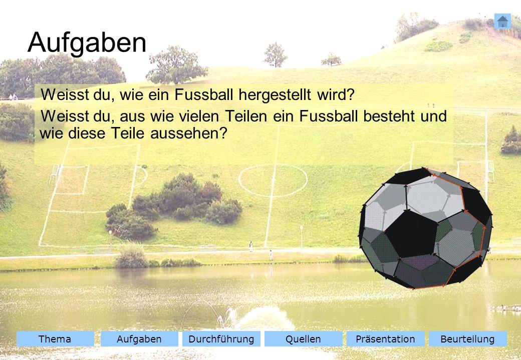 Aufgaben Weisst du, wie ein Fussball hergestellt wird