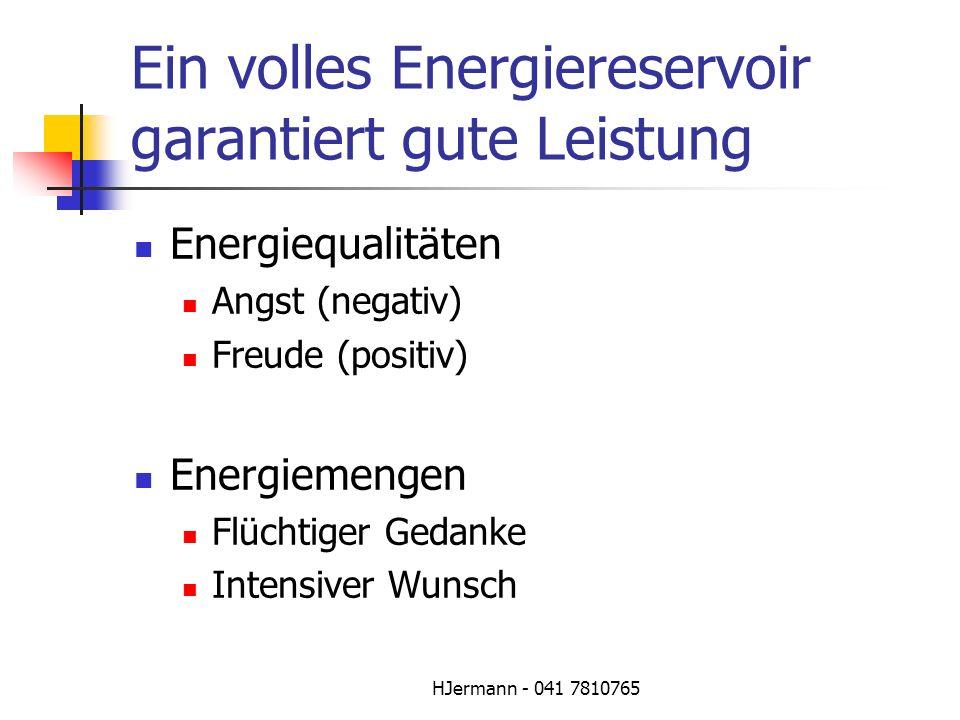 Ein volles Energiereservoir garantiert gute Leistung