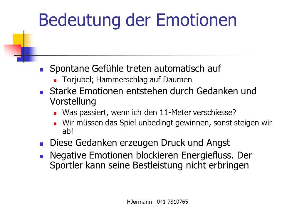 Bedeutung der Emotionen