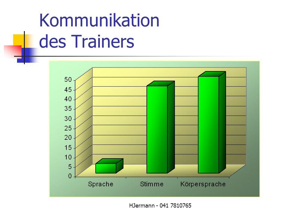 Kommunikation des Trainers