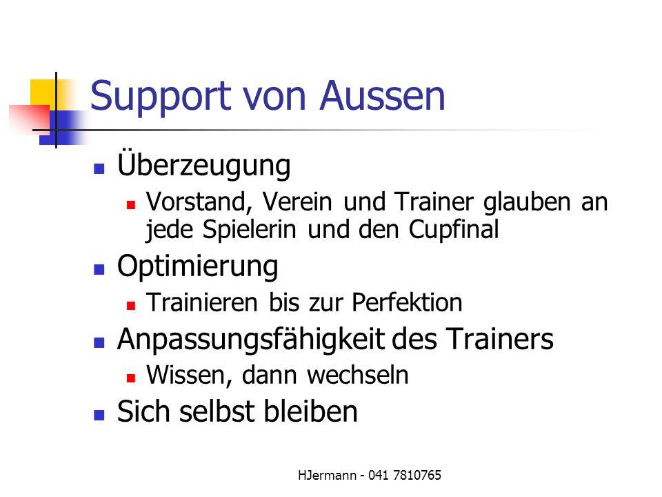 Support von Aussen Überzeugung Optimierung