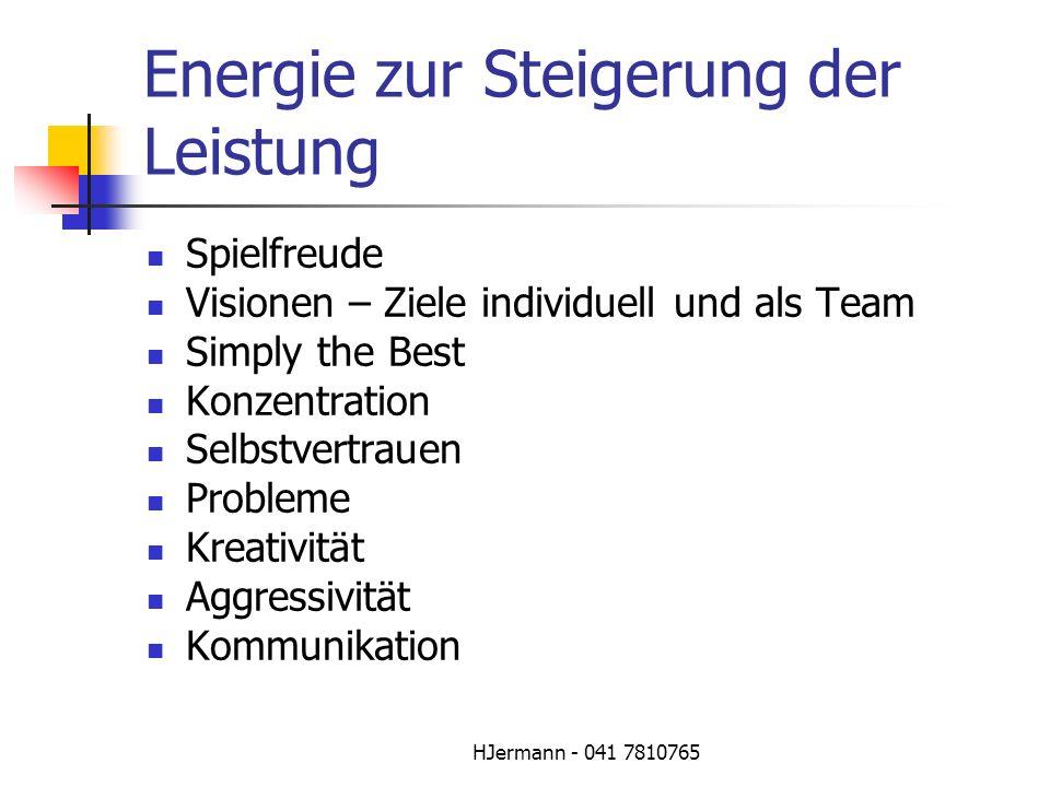 Energie zur Steigerung der Leistung