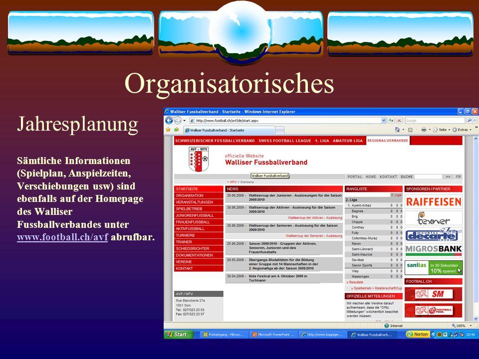 Organisatorisches Jahresplanung