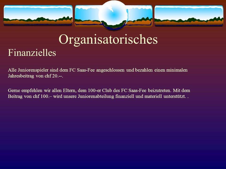 Organisatorisches Finanzielles