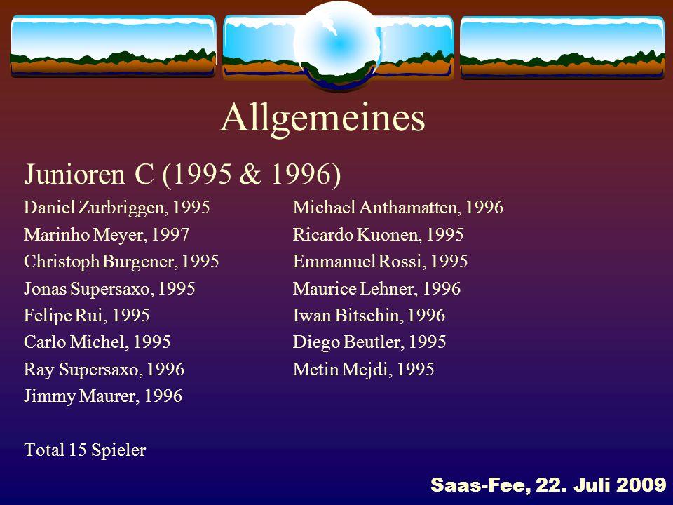 Allgemeines Junioren C (1995 & 1996)