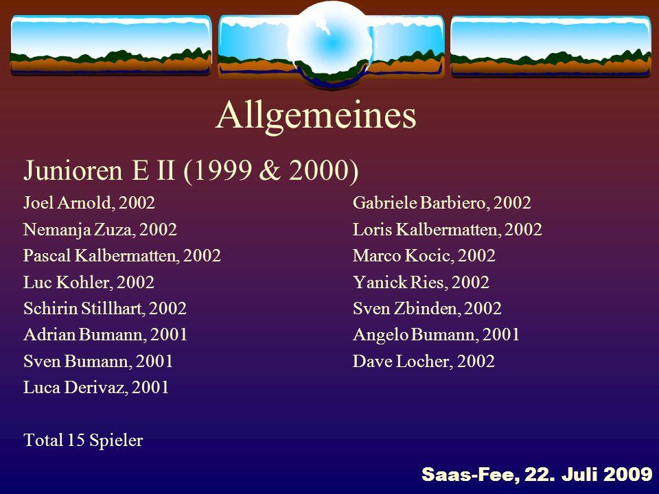 Allgemeines Junioren E II (1999 & 2000)